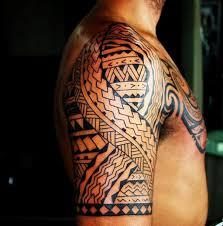 Maori Tribal Tattoo Half Sleeve Guy