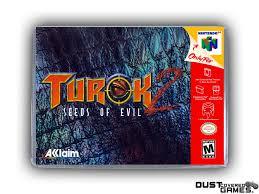 Turok 2: Seeds Of Evil N64 Nintendo 64 Game Case Box Cover Brand New ...