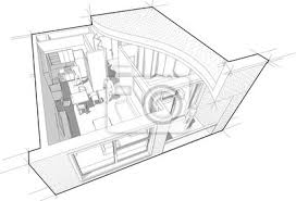 fototapete ausschnittdiagramm der perspektive einer wohnung mit einem schlafzimmer