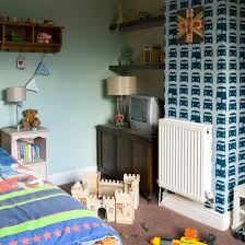 Boys Bedroom With Car Wallpaper Feature Wall