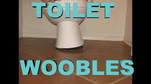toilet wobbles ez fix
