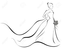 Wedding Gown Silhouette Clipart