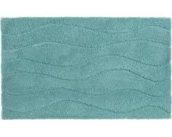 schöner wohnen badteppich santorin 55 cm x 65 cm welle hellblau