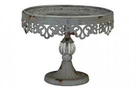 Vintage Inspired Cake Stand With Glass Plate