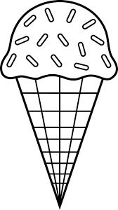 Colorable Ice Cream Line Art