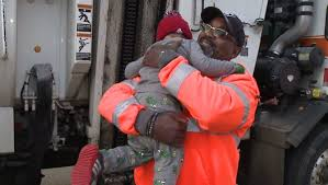100 Trash Trucks Videos 2yearold Boy Forms Friendship With Trash Truck Driver