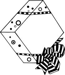 Illustration of a wrapped present with a bow Free Stock