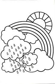 A Bit Rainy Day Make Lovely Rainbow Coloring Page