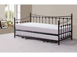 canapé lit fer forgé lit pliant en fer forge style victorien traditionnel noir ou