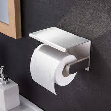 toilettenpapierhalter ohne bohren mit ablage sanglory