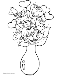 Free Valentine Day Coloring Page