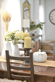 fall dining room table decorating ideas black metal dining chairs
