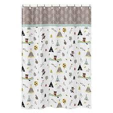 Sweet Jojo Chevron Curtains by Sweet Jojo Outdoor Adventure Shower Curtain Bed Bath U0026 Beyond