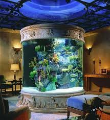 living room decorating ideas with aquarium interior and
