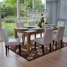 6x esszimmerstuhl stuhl küchenstuhl littau kunstleder weiß dunkle beine