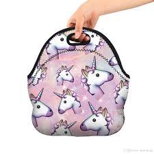 Kids Soft Friendly Unicornio Aislado Con Aislamiento Bolsa De Comida Bolsa De Neopreno Gourmet Bolso Lunchbox Bolsa De Asas Más Cálida Bolsa De