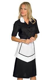 femme de chambre blouse et tablier femme de chambre manches courtes noir blanc