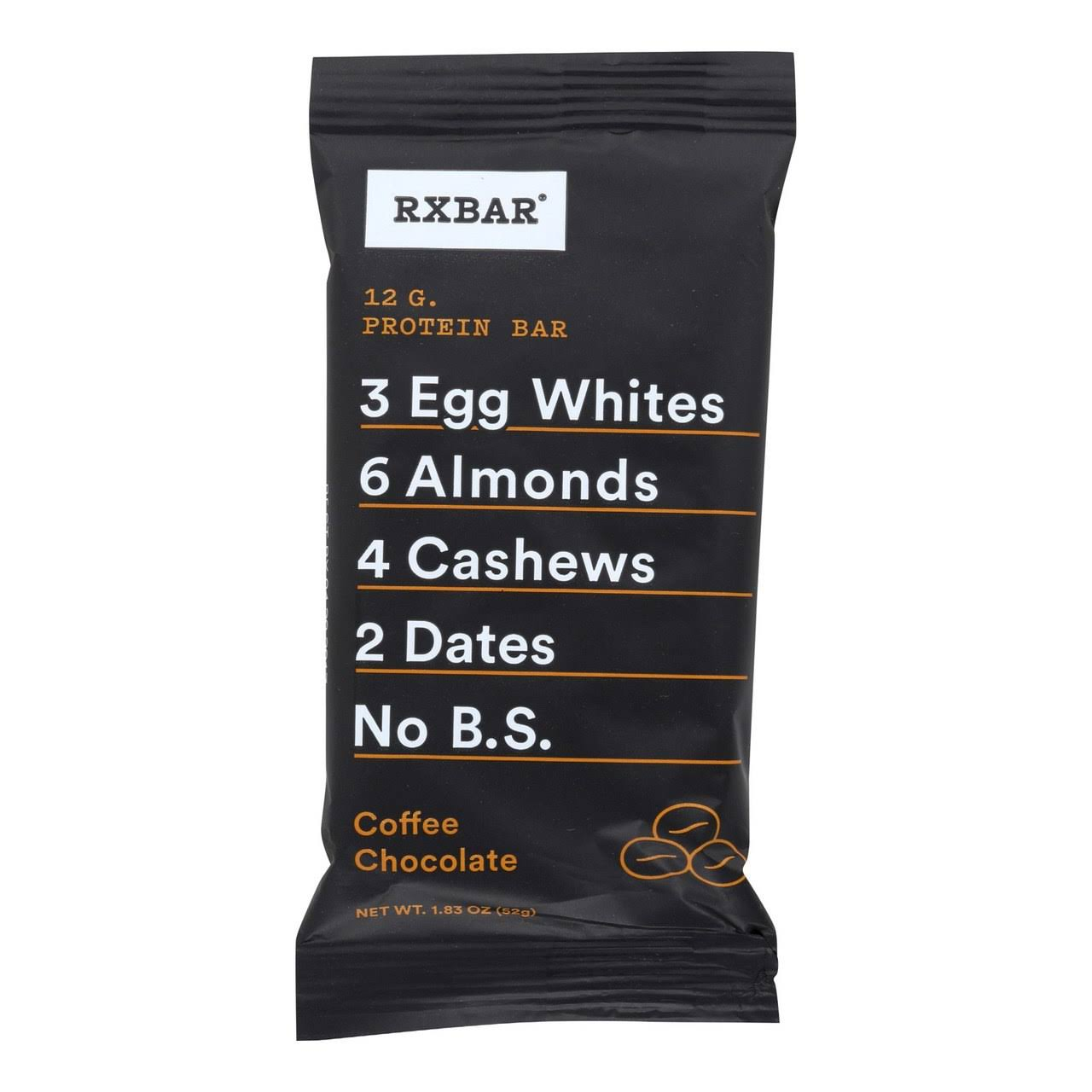 Rxbar Protein Bar - Coffee Chocolate, 12 Bars, 21.96oz