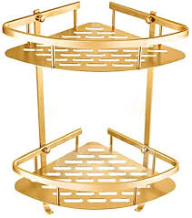 zhangtaolf badezimmer gold regal dusche caddy raum aluminium