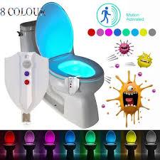 bewegung aktiviert led 8 farbe auto wc schüssel badezimmer kinder nachtlicht le neu vova