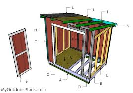 6x8 lean to shed roof plans myoutdoorplans free woodworking
