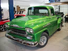 Metallic Lime Green Restored. | 1958 Chevy Truck Restore ... Big Tire Hotrod 1958 Chevrolet Apache Hot Rod Pickup Big Block 160520 001 001jpg 1955 Chevy Truck Handsome 3200 At Home 7_chevlestepside_pickupsrbehot_rod5___1956 Parts Blower Fat Hot Rod Fast Chevy Fleetside Wheels Boutique 1964 Promoted By The Fab Forums Fabrication Truck Network 1956 1957 1959 Radio Original Cameo 55 57 Dans Garage