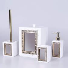 veroni badezimmer set 4 teilig in weißgold mit real de