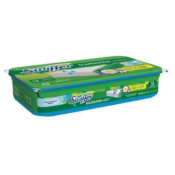 Swiffer 35154 Wet Cloths - 12ct, 10""