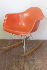 Red Orange Eames RAR Rocker For Herman Miller Black 2014 Herman Miller Eames Rar Rocking Arm Chairs In Very Good Cdition White Rocking Chair Charles Ray Eames And For Vintage Brown By C Frank Landau For Sale Rope Edge Chair 1950s Midcentury Modern Rar A Pair 1948 Retro Obsessions