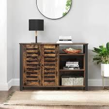 vasagle sideboard schrank mit 2 türen verstellbare ablagen für esszimmer wohnzimmer küche 114 x 35 x 75 cm industrie design