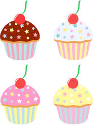 5400x7295 Four Cupcakes With Cherries and Sprinkles