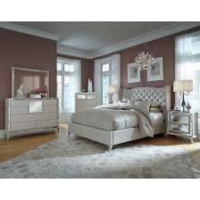 AICO Michael Amini Hollywood Loft Upholstered Platform Bedroom Set