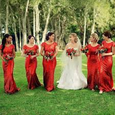 red maid of honor dresses with sleeves promotion shop for