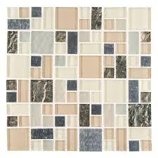 Jeffrey Court Mosaic Tile by Jeffrey Court Royal Glaze 11 875 X 11 875 Glass Metal Mosaic Wall