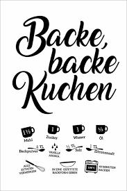 premium poster backe backe kuchen