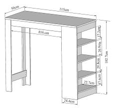 table haute hauteur standard