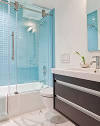 royal blue bathroom decor faucet under the large rectangle mirror