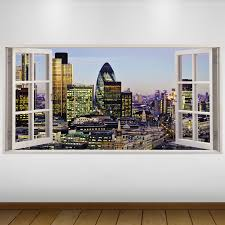 EXTRA LARGE London UK City 3D Vinyl Wall Art Decal Sticker Poster