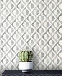 newroom vliestapete creme tapete modern kreise mustertapete retrotapete grau silber retro geometrisch grafik muster für wohnzimmer schlafzimmer