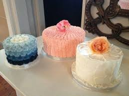 Rustic Ruffles N Ombre Rosette Wedding Cakes Created By MJ Mjscakesco