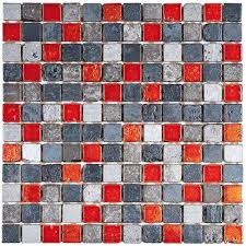 bati orient mami83 grey mix color marble mosaic 1 x1