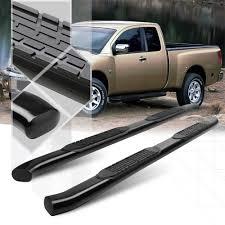 100 Nerf Bars For Trucks Black 4 Oval Curved Tube Side Step Bar For 0415 Nissan Titan