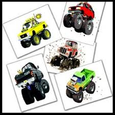 100 Monster Truck Tattoos MONSTER TRUCKS Party Favours X 12 Pieces KIDS BIRTHDAY