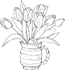 Coloring Page Tulip Nature 39