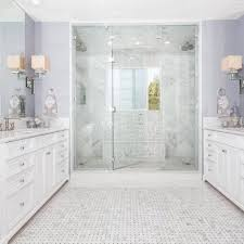 sophisticated master bathroom with walk in shower hgtv
