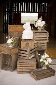 Wood Pallets Box Wedding Cake Dessert Display