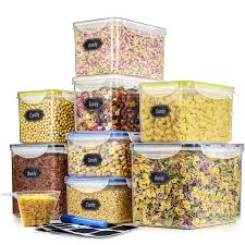 Cereal Containers Food Storage Containers Estmoon Large Dry Storage Containers Airtight Leak proof With Locking Lids BPA Free Suitable For
