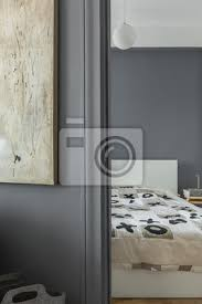 graue wand und schlafzimmer bilder myloview