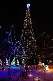 Flagpole Christmas Tree plymouth lights original mega tree