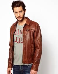 men u0027s brown leather jacket ervin 50s biker
